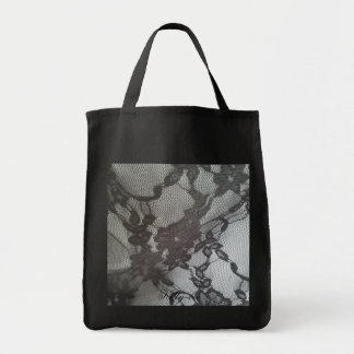 Shopper grey lace Kitty-boe eco material Tote Bag