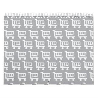 shopper grey calendar
