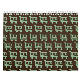 shopper mint and brown calendar