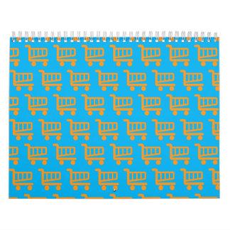 shopper orange and blue calendar