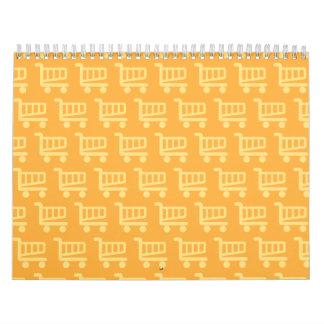 shopper orange calendar