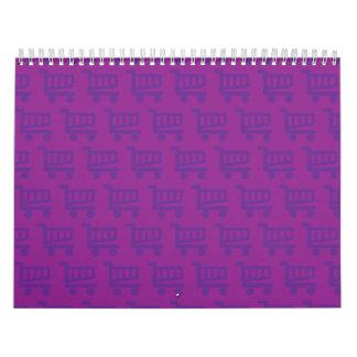 shopper purple calendar