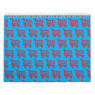 shopper red and blue calendar