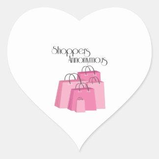 Shoppers Annonymous Heart Sticker