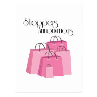 Shoppers Annonymous Postcard
