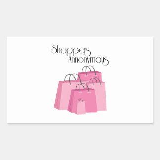 Shoppers Annonymous Rectangular Sticker
