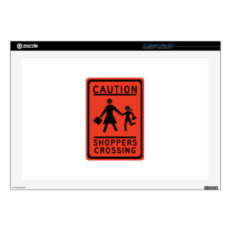 Shoppers Crossing, Traffic Warning Sign, Texas, US Skins For Laptops