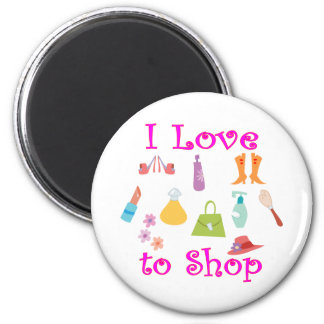 Shopping 2 Inch Round Magnet