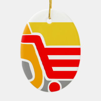 shopping - Abstract Ceramic Ornament