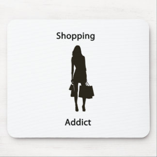 Shopping addict mouse pad
