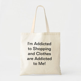Shopping Addiction Canvas Bags