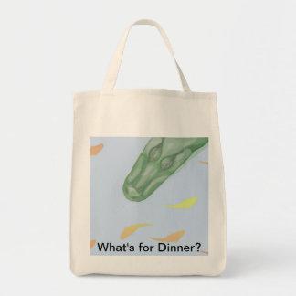 Shopping bag, alligator, beach bag, fish tote bag