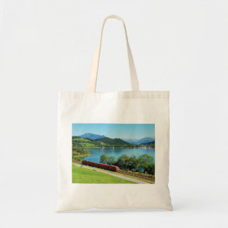 Shopping bag of large Alpsee with Immenstadt