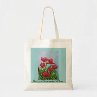 Shopping bag, tulips, tote bag