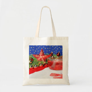 Shopping bag with Christmas picture