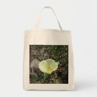 Shopping bag with desert wildflower