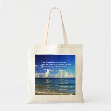 Beach Themed Shopping bag with inspirational message