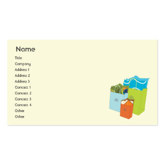 Shopping Bags - Business Double-Sided Standard Business Cards (Pack Of 100)