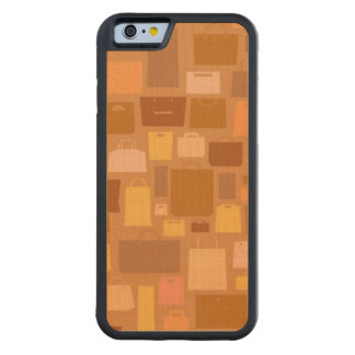 Shopping bags pattern, autumn colors carved® maple iPhone 6 bumper
