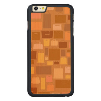 Shopping bags pattern, autumn colors carved® maple iPhone 6 plus case