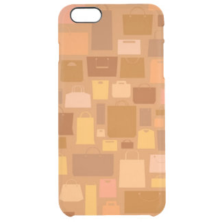 Shopping bags pattern, autumn colors clear iPhone 6 plus case