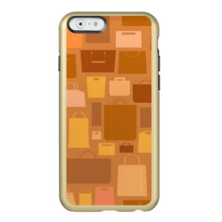 Shopping bags pattern, autumn colors incipio feather® shine iPhone 6 case