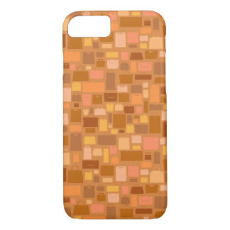 Shopping bags pattern, autumn colors iPhone 7 case
