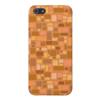Shopping bags pattern, autumn colors iPhone SE/5/5s cover