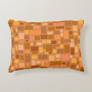 Shopping bags pattern, autumn colors accent pillow