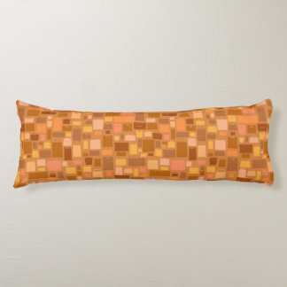 Shopping bags pattern, autumn colors body pillow