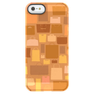 Shopping bags pattern, autumn colors permafrost® iPhone SE/5/5s case