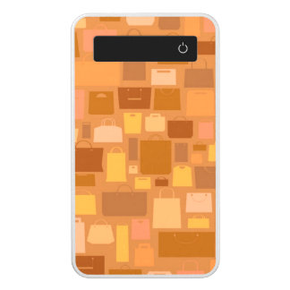 Shopping bags pattern, autumn colors power bank