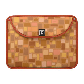 Shopping bags pattern, autumn colors sleeve for MacBook pro