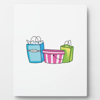 SHOPPING BAGS PLAQUE