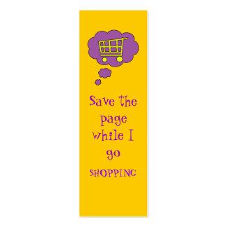 shopping bookmark mini business card