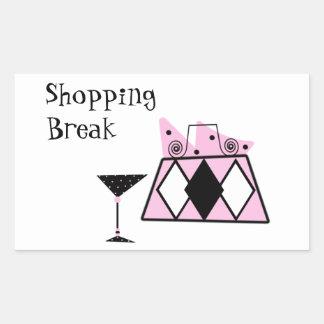 Shopping Break Rectangular Sticker