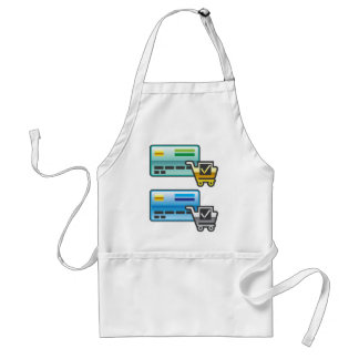 Shopping cart and Credit Card Icon Adult Apron