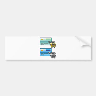 Shopping cart and Credit Card Icon Bumper Sticker