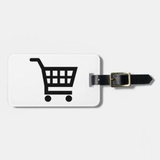 Shopping cart bag tag