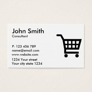 Shopping cart business card