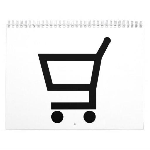 Shopping cart wall calendar