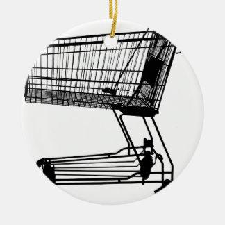Shopping Cart Ceramic Ornament