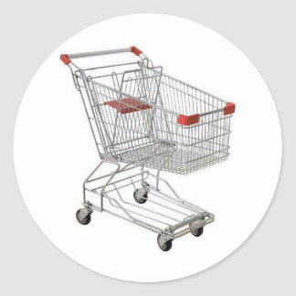 shopping-cart classic round sticker