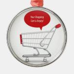 Shopping cart design christmas ornaments