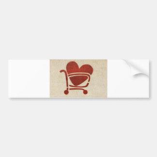 Shopping Cart Heart Adesivo