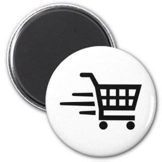 Shopping cart magnet