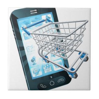 Shopping cart mobile phone ceramic tiles