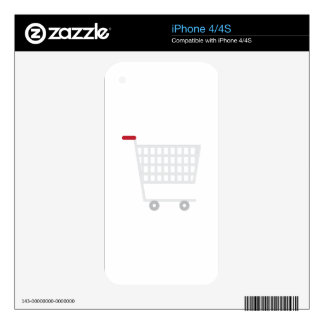 Shopping Cart iPhone 4 Decals