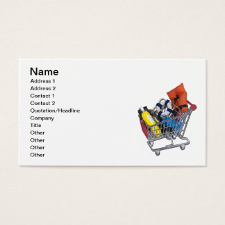 Shopping Cart Water Sport Equipment Business Card