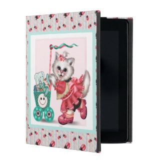 SHOPPING CAT LOVE CUTE iPad 2/3/4 iPad Folio Case